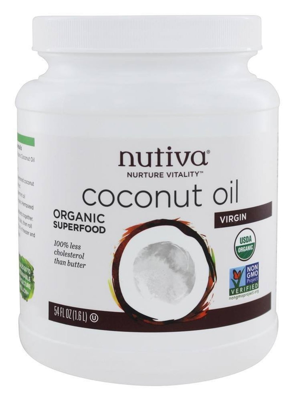 Nutiva Organic Coconut Oil, Virgin, 54 Ounce