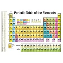 Periodic Table of the Elements White Scientific Chart Poster Print Collections Poster Print, 36x24