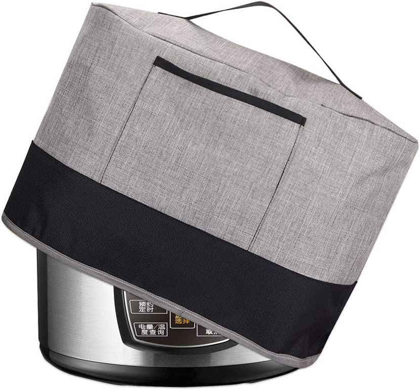 3.5Qt Slow Cooker Dust Cover,Slow Cooker Anti Oil Cover for Oval and Round-Shaped Crockpots,Rice Cooker Crock Pot Cover Bag with Pocket and Handle,Oxford Fabric Small Appliances Cover (Fit for 3.5 QT Crock Pot)