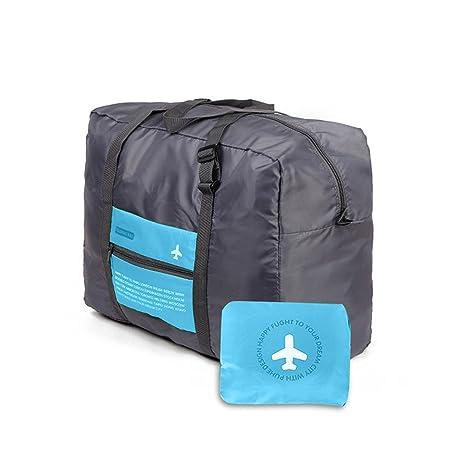 2e23dc2803be1 Reisetaschen Falttasche Tragbare Gepäcktasche mit Großer Kapazität Leichte  Reisetaschen für Herren und Damen (Blau)