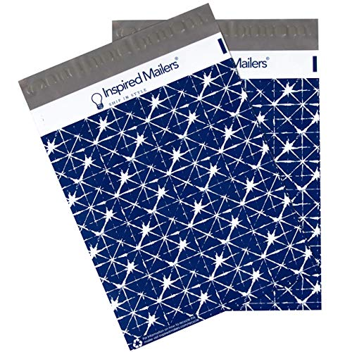Inspired Mailers - Poly Mailers 10x13 - Batik Design - 100 Pack - 3.15mil Unpadded Shipping Bags - Packaging Envelopes - 10x13 Poly Mailers (10x13, 100 - Christmas Batik