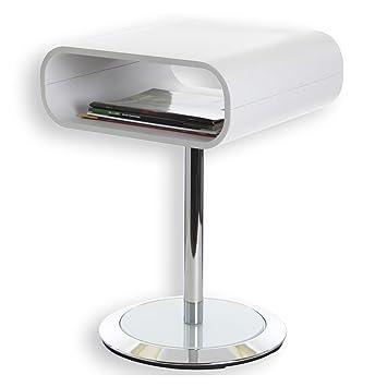 sellette guridon table duappoint victoria mtal chrom et bois blanc with gueridon maison du monde. Black Bedroom Furniture Sets. Home Design Ideas