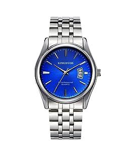 REDANTS Watches for Men's Stainless Steel Strap Business Waterproof Date Sports Wristwatch (Blue)