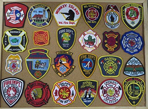 OKLAHOMA FIRE/RESCUE DEPARTMENT PATCHES! SET ONE! LOT OF 24!