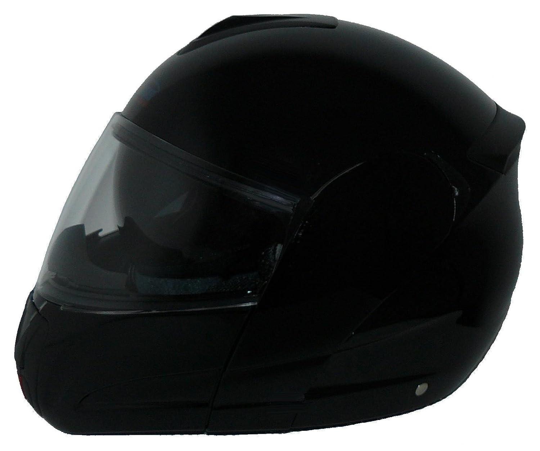 Taglia S Protectwear Moto casco incernierato nero opaco con visiera parasole integrata  V210-MT