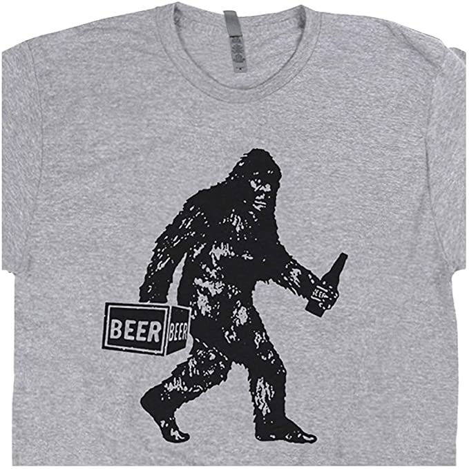 e5d685cc S - Funny Beer Bigfoot Shirt Saquatch Drinking for Men Women Vintage  Moonshine Yeti Graphic Tee