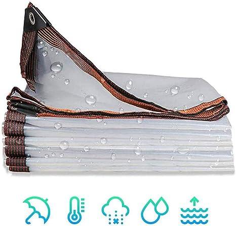 GFDGFDG - Lona de polietileno transparente, impermeable, resistente, con ojales para muebles de jardín, cobertizo, trampolín, madera, coche o jardinería, 5 x 8 m: Amazon.es: Deportes y aire libre