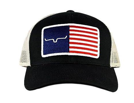 43d0490f87b8a Kimes Ranch American Trucker Hat - Black Silver at Amazon Men s ...