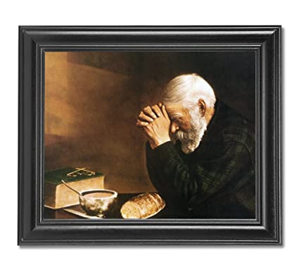 Amazon.com: Daily Bread Man Praying At Dinner Table Grace Religious ...