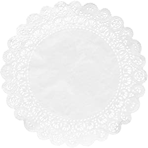 Hygloss Products Round Paper Doilies - Decorative, White Lace Doilies - Disposable - Food Grade Safe - 10 Inches - 36 Pack
