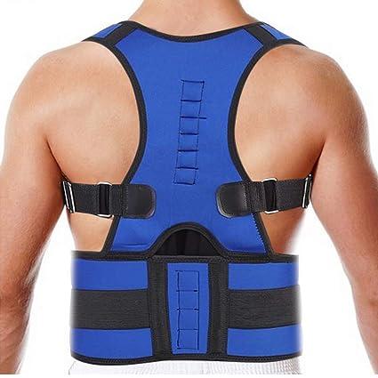 corrector espalda Soporte ortopédico corrector de postura ajustable para hombres adultos y adolescentes(2XL)