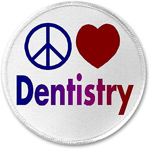 "Iron On Patch Dentistry Dentist Gift 3/"" Circle Sew Dental Hygienists Rock"