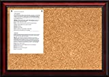 Amanti Art Framed Cork Board Medium, Rubino Cherry Wood: Outer Size 27 x 19''