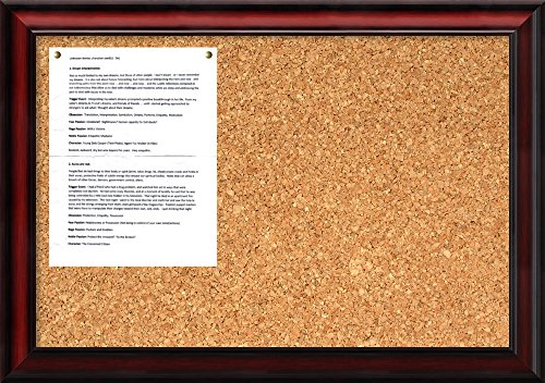 (Amanti Art Natural Cork Rubino Cherry Scoop Framed Bulletin Boards, Size 24x16)