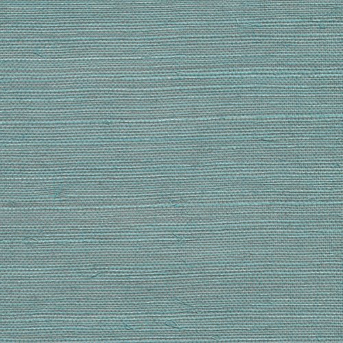 Kenneth James 2732-80016 Haiphong Turquoise Grass Cloth Wallpaper