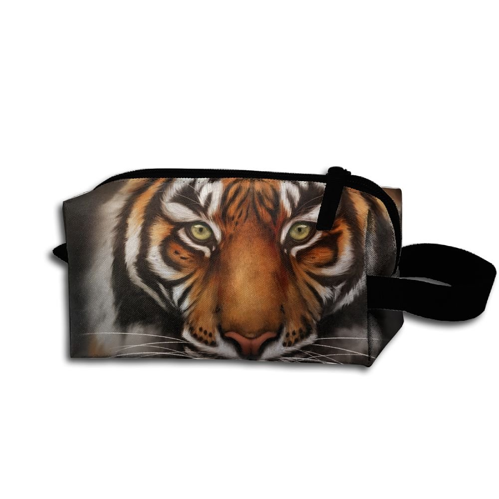 Makeup Cosmetic Bag Animals Save Tiger Zip Travel Portable Storage Pouch For Men Women by Alone