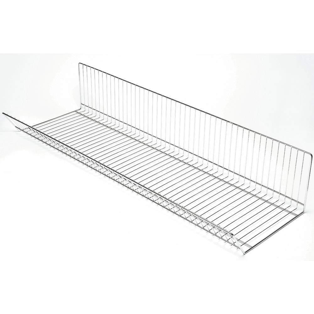 Gondola Wire Basket Shelf Organizer Chrome 47 1//2 x 15 1//2 x 9