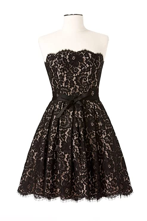 1c0d7225dffe4 Amazon.com: Robert Rodriguez Strapless Party Black Lace Cocktail Dress Size  12: Everything Else