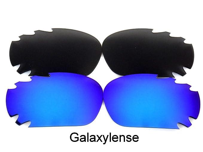Galaxylense lentes de repuesto para Oakley Racing Jacket negro y azul Color Polarizados 2 Pares,