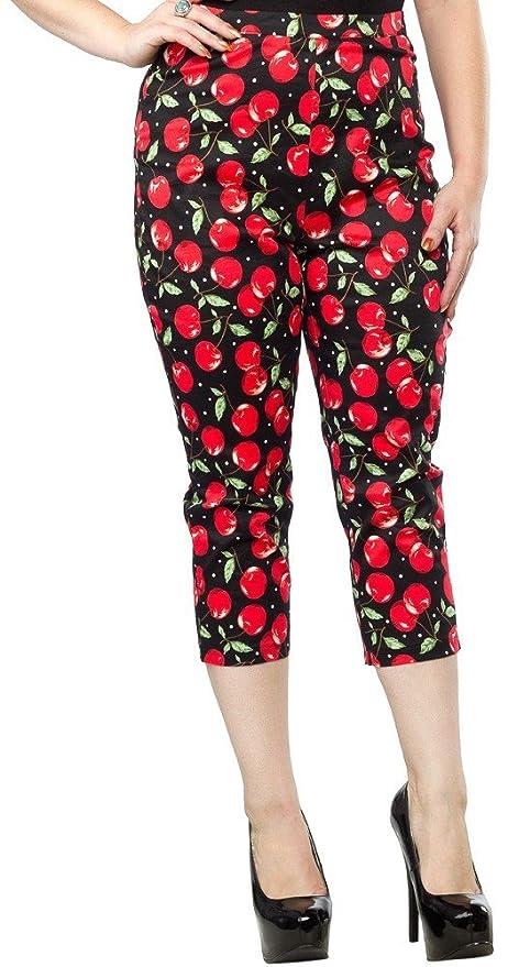 Womens Sourpuss Cherry Pie Peggy Capris $36.00 AT vintagedancer.com