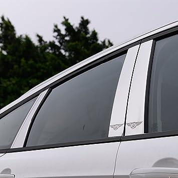 BeHave zzt365104w - Almohadillas para ventanas de coche, moldeador de ventana, tapacubos de acero
