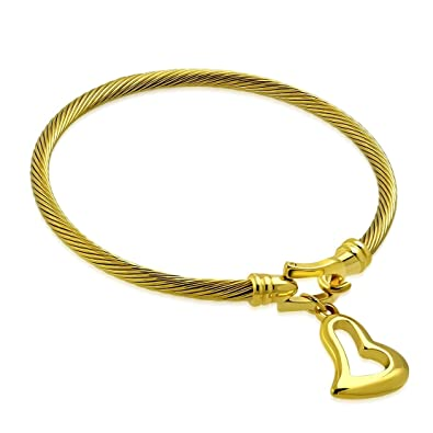 Gold Farbe vergoldet Edelstahl Keltischer Verdrehte Kabel Draht ...