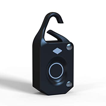 UTech Mini Candado Huella Dactilar, Candado Maleta, Bloqueo Biométrico, sin necesidad de Llaves y Contraseña, Utilizado para Armarios, Maletas.