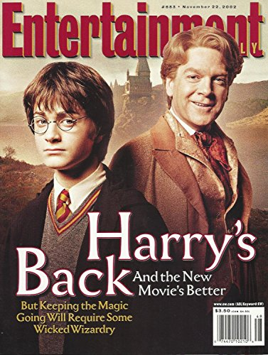 Entertainment Weekly Magazine #683 - Harry Potter and the Chamber of Secrets Cover - November 22, 2002