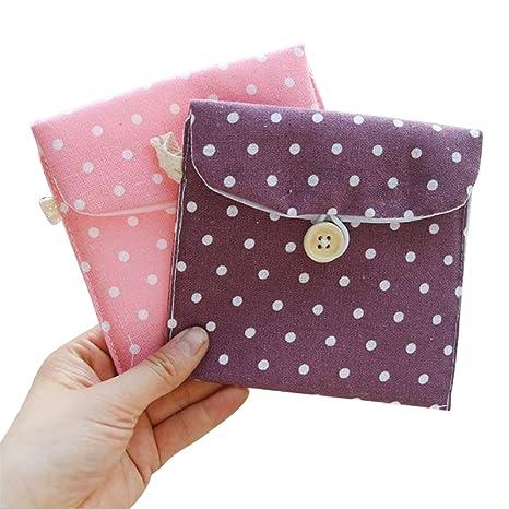 Doitsa, 2 piezas, pequeño monedero de tela para niña o mujer; bolsa para