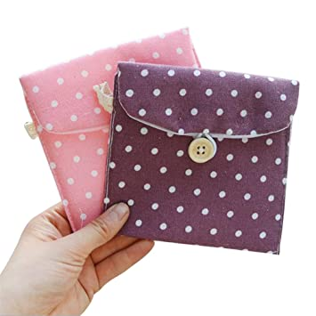 Amazon.com : LAAT 2PCS Sanitary Napkin Bag Small Handbag ...