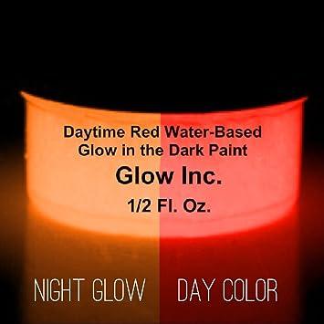 Amazoncom Glow Inc Daytime Red Glow in the Dark Paint 12