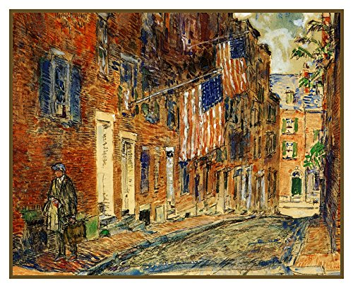Orenco Originals Acorn Street on Beacon Hill Boston Massachusetts Childe Hassam Counted Cross Stitch Pattern