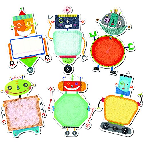 CREATIVE TEACHING PRESS RIVETING ROBOTS 10IN DESIGNER CUT (Set of 6)