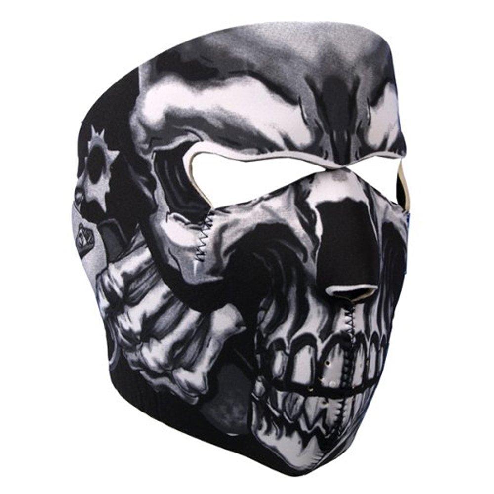 Lmeno Neoprene Assassin Skull Full Face Mask Reversible Biker Snow Skateboard Motor Bike Scary Sports Athlectic Facemask