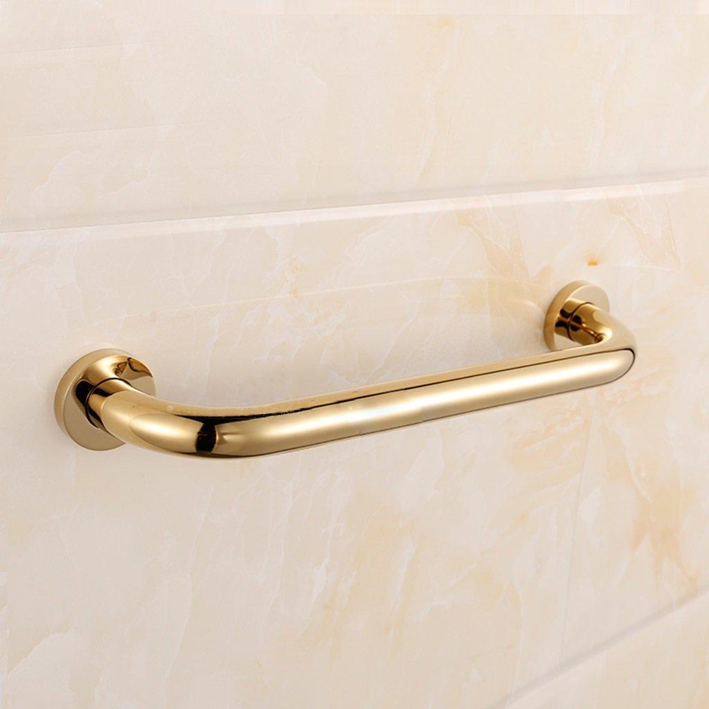 LiRuShop Corrimano per bagno in ottone Corrimano per bagno dorato, Corrimano per disabili per disabili Maniglia per vasca di sicurezza (Colore   oro, Dimensione   47cm)