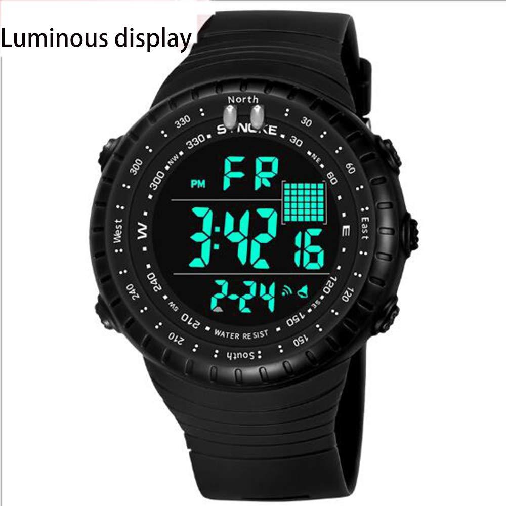 Xhyqs Tiempo Nobel Wish Explosión Impermeable Multifunción Reloj Electrónico Al Aire Libre LED Moda Hombre Estudiante Deportes Pantalla Grande: Amazon.es: ...