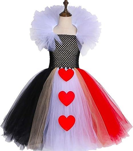 QWER Vestido de Bola de Halloween Reina de Corazones de Cospaly ...