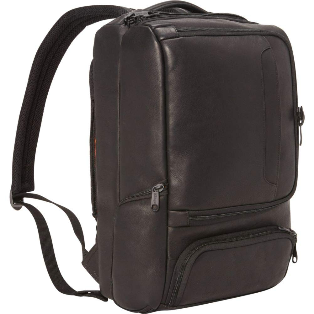 eBags Professional Slim Laptop Backpack - LTD Edition Colombian Leather (Black)