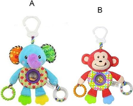 Baby Stroller Plush Crib Pushchair Pram Rattle Hanging Pendant Toy Infant Gift