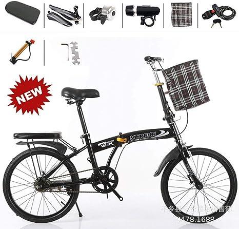 YLCJ Bicicleta Plegable, 20 Pulgadas de Trabajo Ligero para ...
