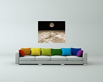 Bilderdepot24 Fotomural Tierra y la Luna - Sepia 80x65 cm ...