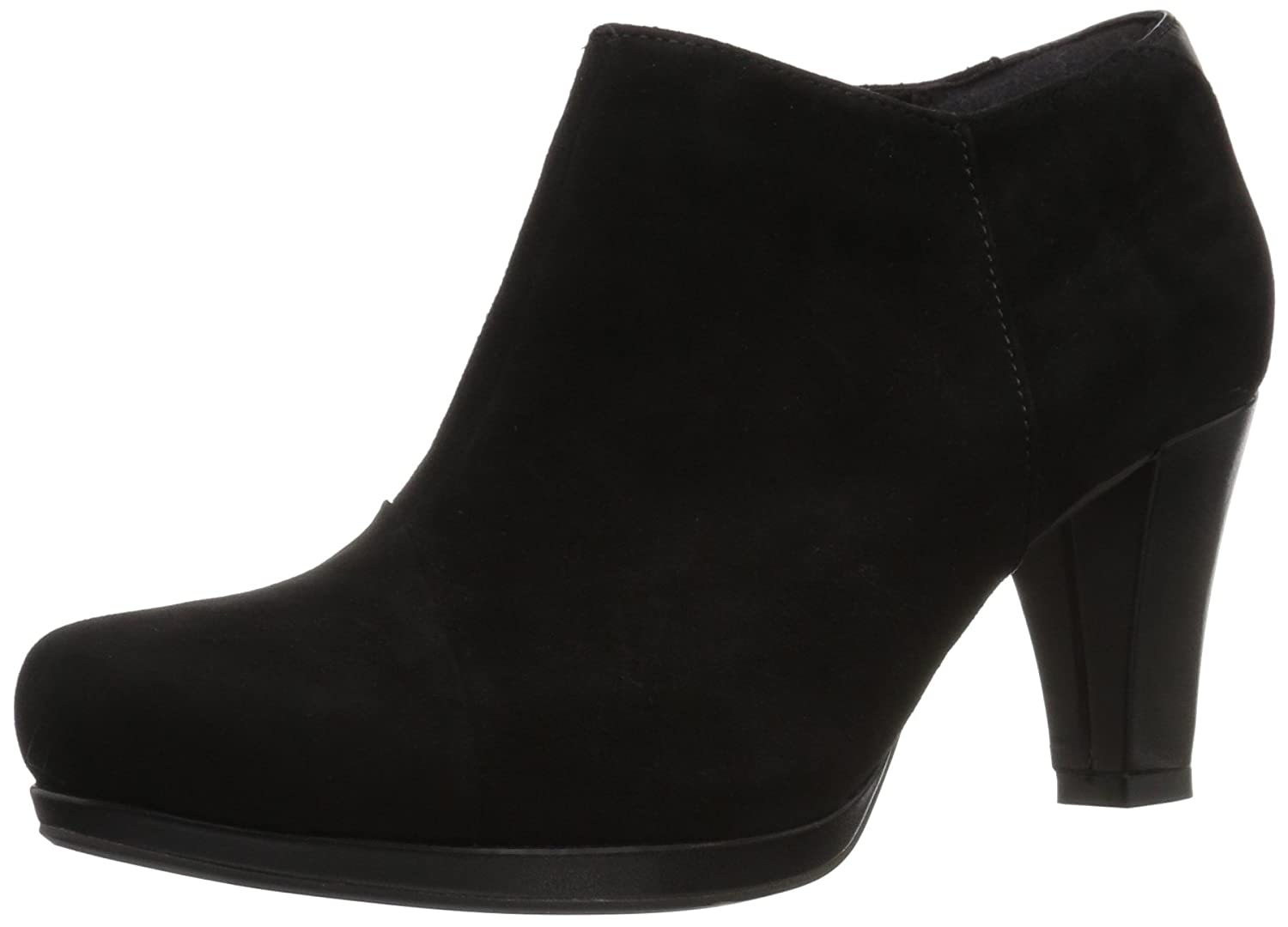 CLARKS Women's Chorus Jingle Ankle Bootie B01N9GNKC2 5 B(M) US|Black Suede