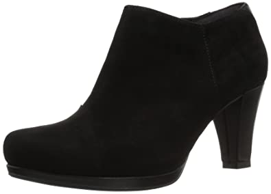 Clarks Women's Chorus Jingle Ankle Bootie, Black Suede, ...