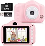 Kids Camera, 12MP Digital Camera for Kids Gifts, 3.5 Inch Large Screen 1080P Digital Video Camera for Kids with 32GB SD…