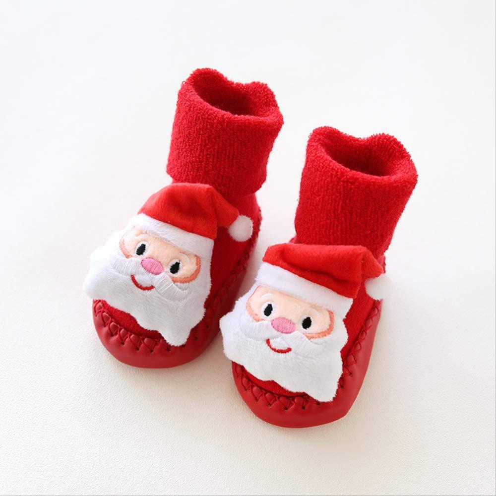 GUHUA Calzado De Bebé De 0-3-6-12 Meses, Medias Rojas De Navidad ...