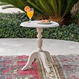 Eco-Cross | Outdoor Side Table | Recycled Nylon | Perfect for Patio | in French White For Sale