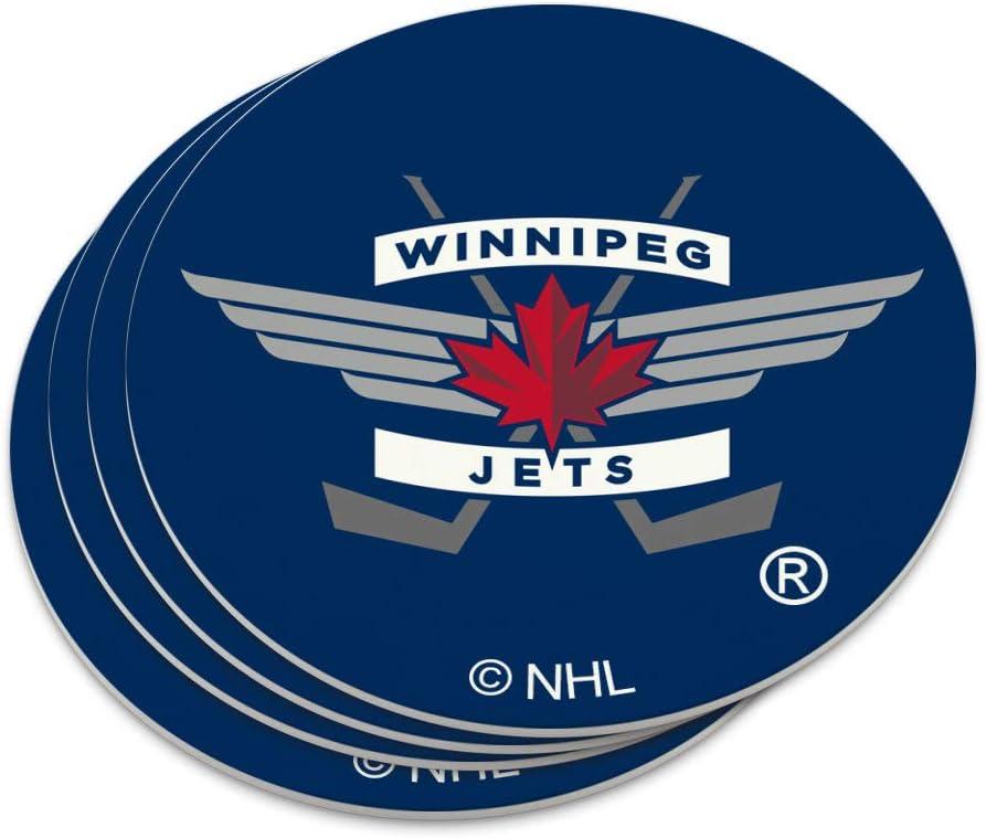 Amazon Com Nhl Winnipeg Jets Logo Novelty Coaster Set Coasters