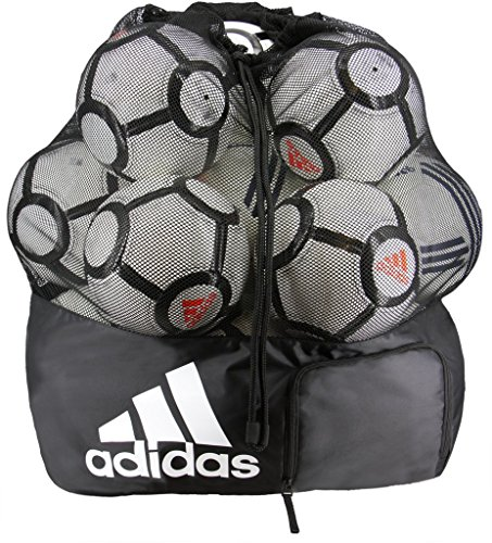 adidas Team Stadium Ball Bag, Black/White, One Size