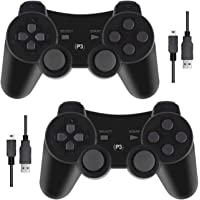 PS3 Controller with Dual-Vibration Joysticks,Wireless Game Controller Compatible with Sony Playstation 3 with Charging…