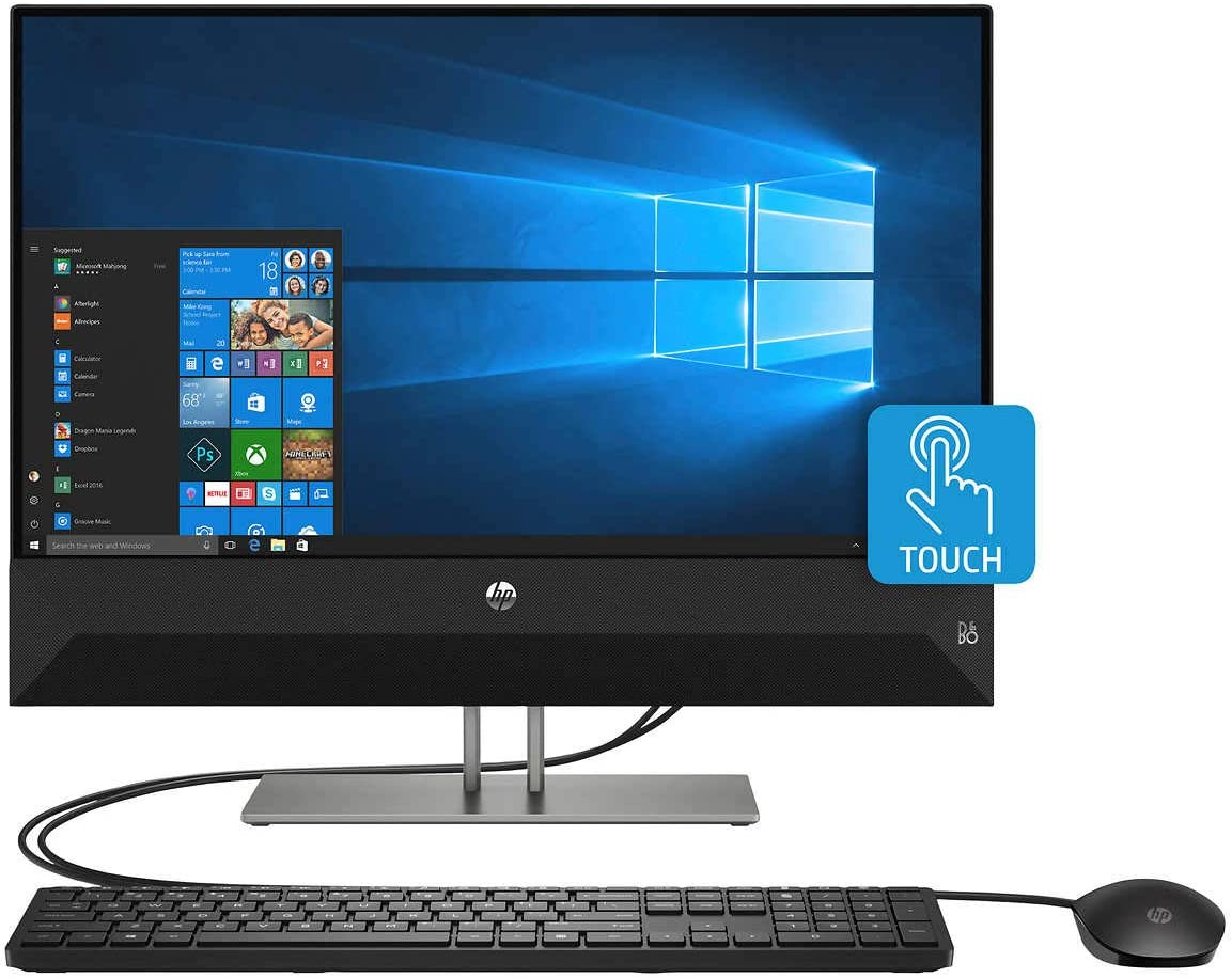 "2019 Premium High Performance HP Pavilion 23.8"" Full HD Touchscreen AIO Desktop, Intel i5+8400T Processor, 12 GB Memory+16 GB Optane, 1TB HDD, HDMI, Bluetooth, Windows 10 Home"